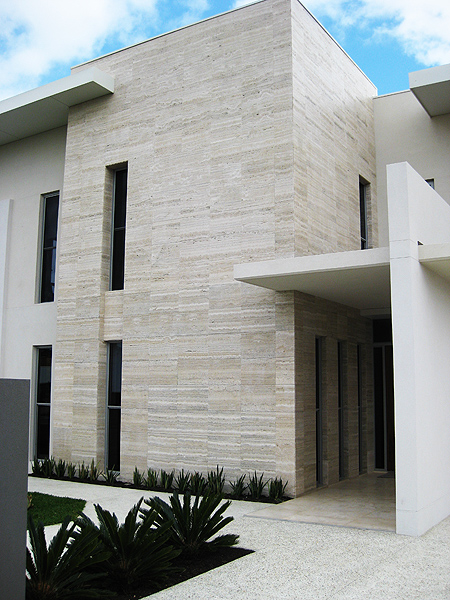 travertine facade