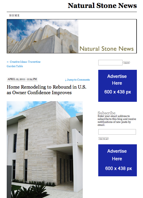 Natural Stone News Advertise