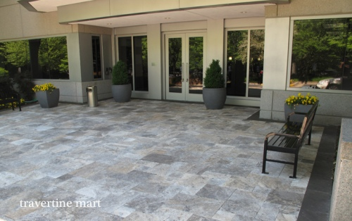 Silver French Pattern Travertine